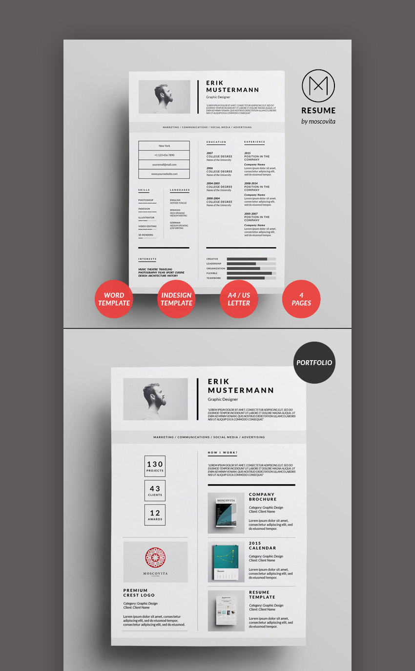 clean resume templates that stand out with minimal creative design