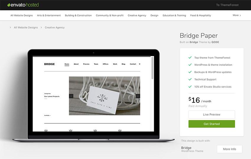 Bridge Paper WordPress Minimal Portfolio Agency Theme