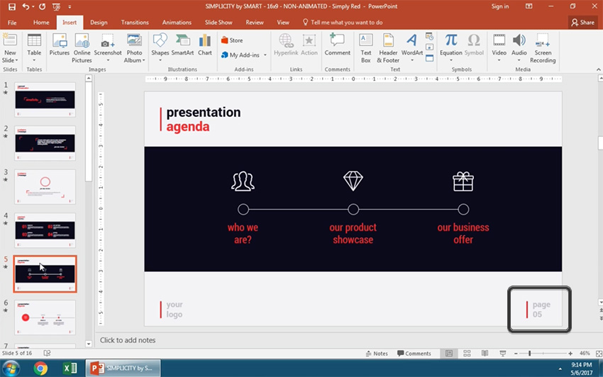 How to add slide numbers to powerpoint in 60 seconds page numbering applied to powerpoint toneelgroepblik Choice Image