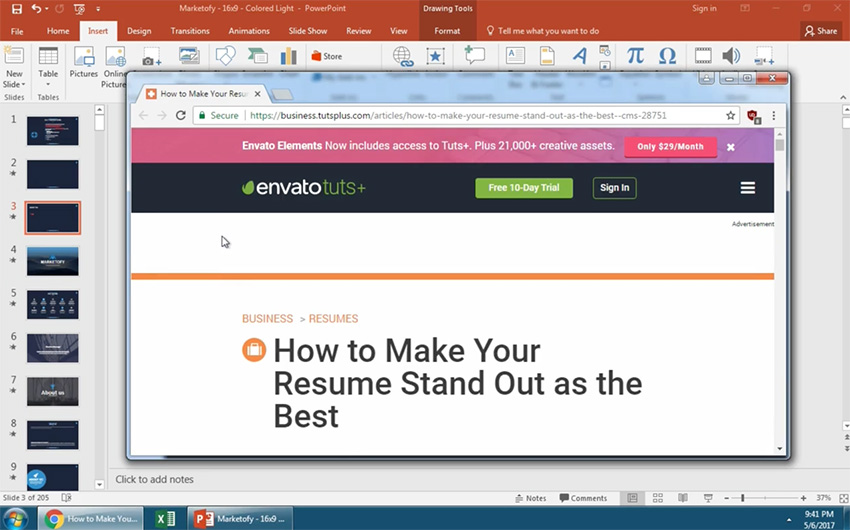 Test that your new PowerPoint slide link works when clicked