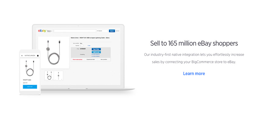 Connect your BigCommerce store to eBay or other online popular marketplaces