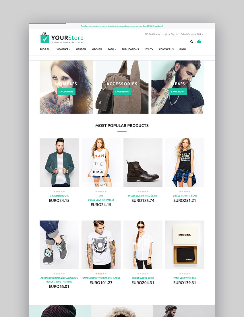 YourStore BigCommerce multipurpose theme design