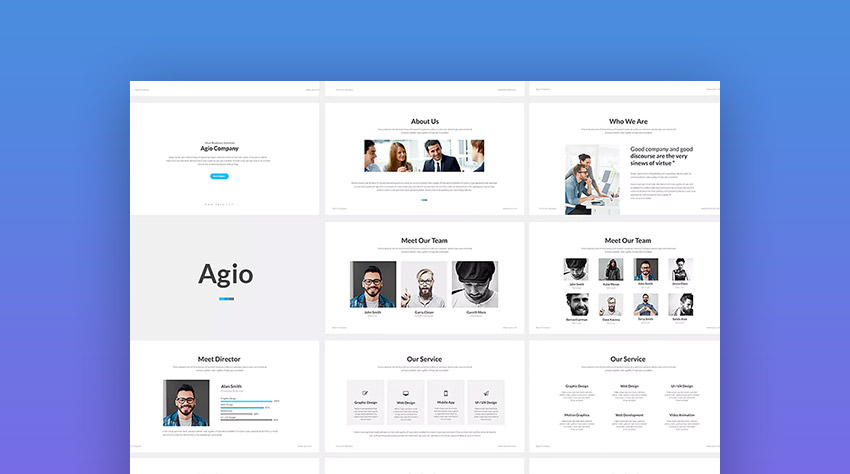 Agio Clean Presentation Design for PowerPoint