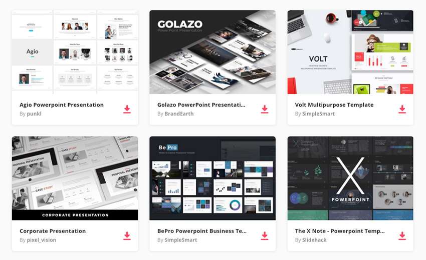 Best PowerPoint presentation design templates on Envato Elemetns