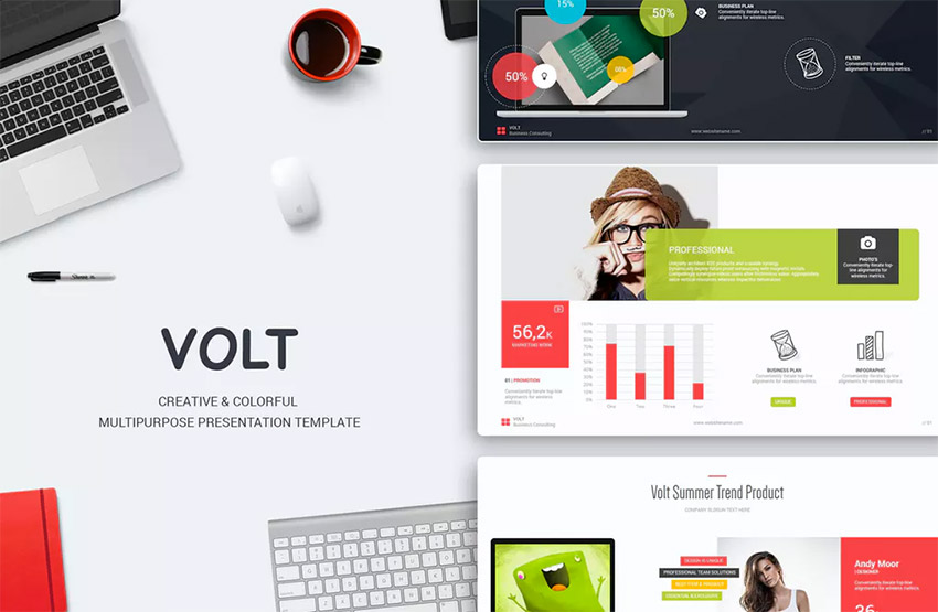 volt one of the best powerpoint template designs