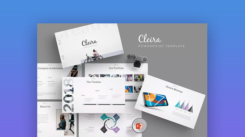Cleira PowerPoint Creative Design Template
