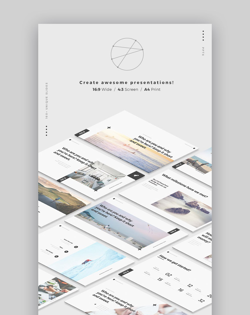 MNML Minimal Style Graphic Design PowerPoint Template