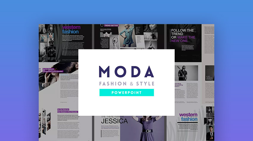 Moda Fashion and Style PowerPoint Design Template