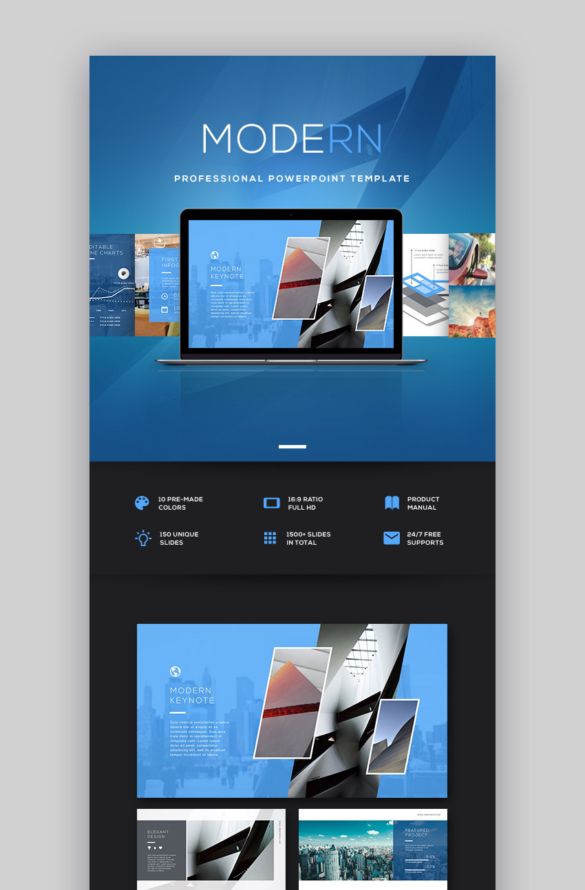 Modern Template Design for PPT Presentation