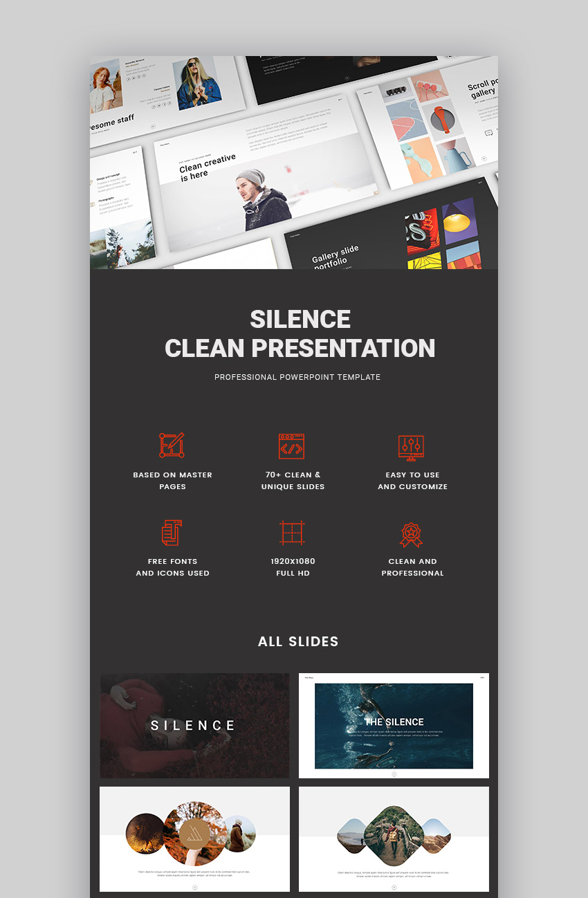 Silence New modern Presentation Design PPT Theme