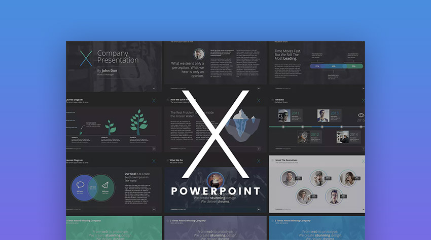 The X Note PowerPoint Design Template for Presentations