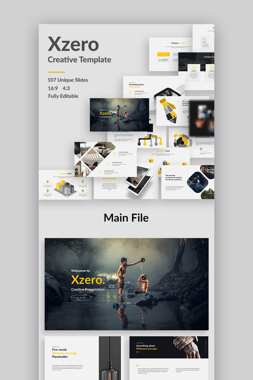 Xzero Creative Template Design for PowerPoint