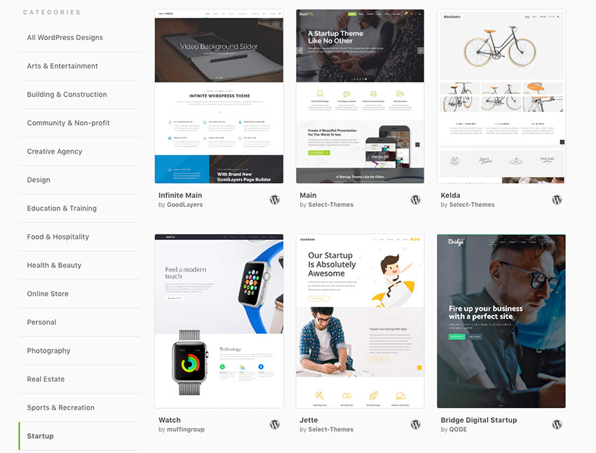 Envato Hosted - WordPress premium hosting theme design options