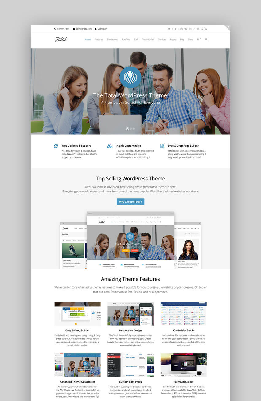 Total professional WordPress premium theme