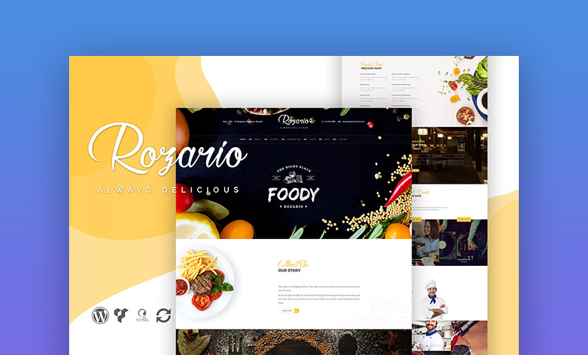 Rozario WordPress Template for Restaurant Websites