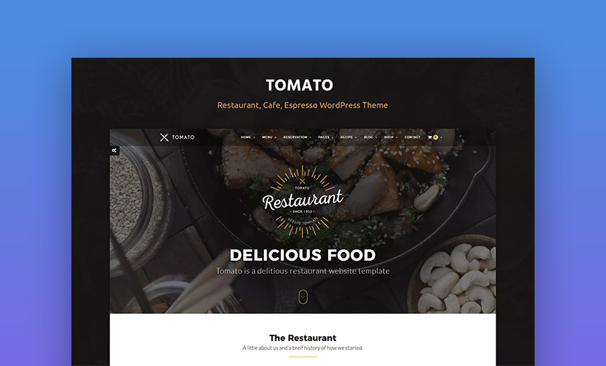 Tomato Restaurant and Cafe WordPress Theme