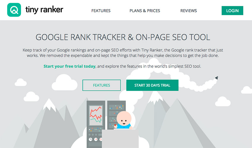 Tiny Ranker - Powerful Google rank tracker and easy-to-use SEO tool