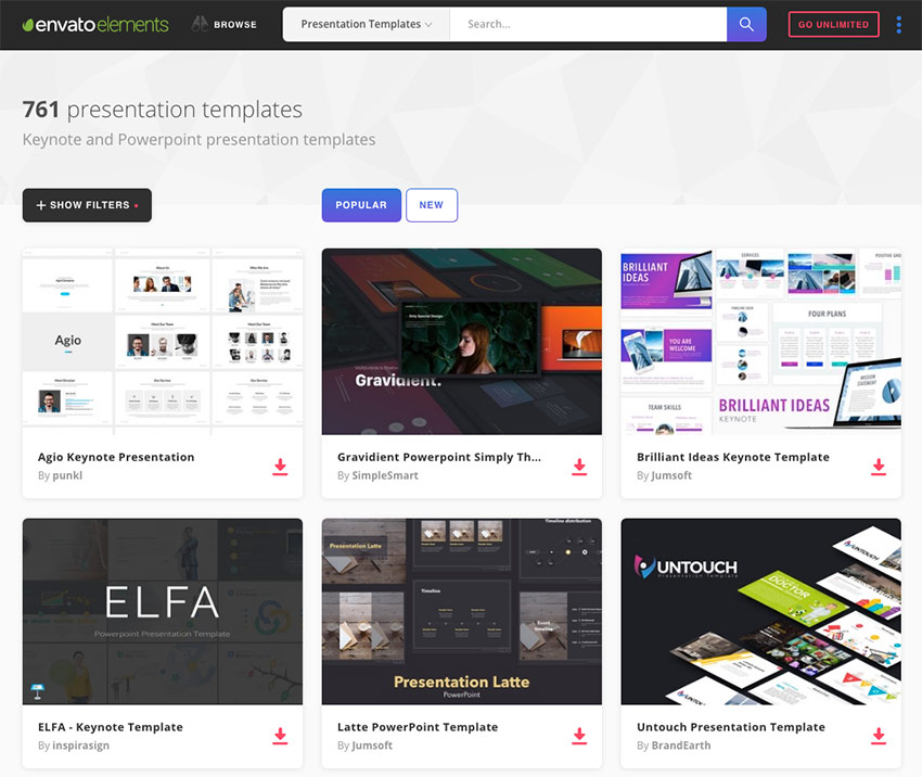 Best Presentation Templates on Envato Elements