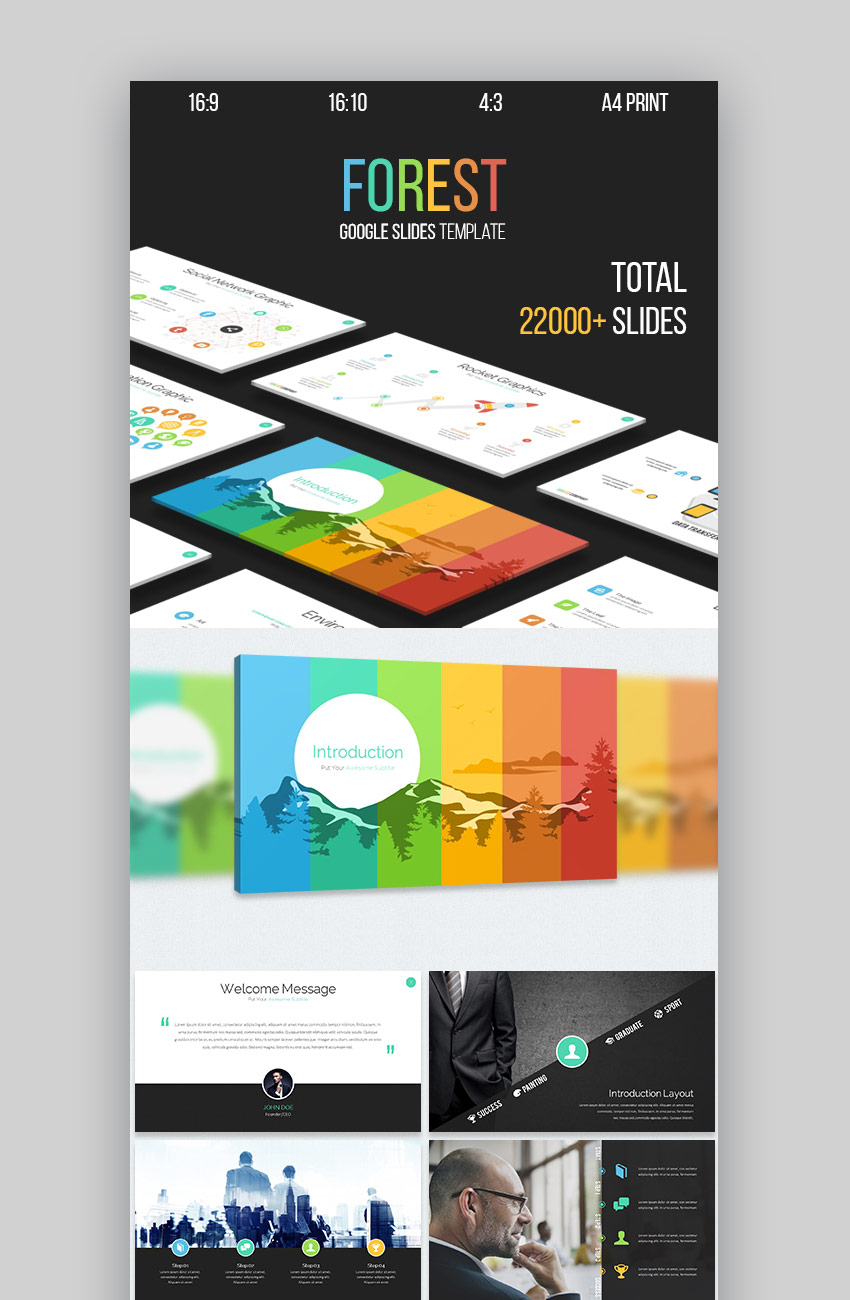 Forest New Multipurpose Google Slides Template Design