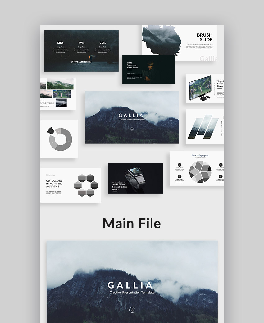 Gallia Creative Google Slide Presentation Template Design