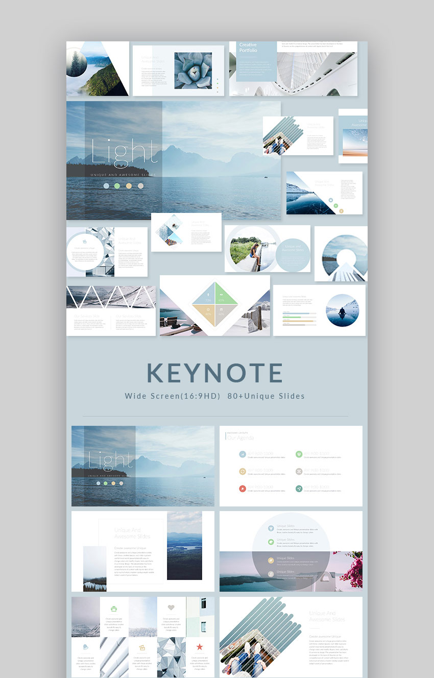Light Modern Keynote Presentation Template Design