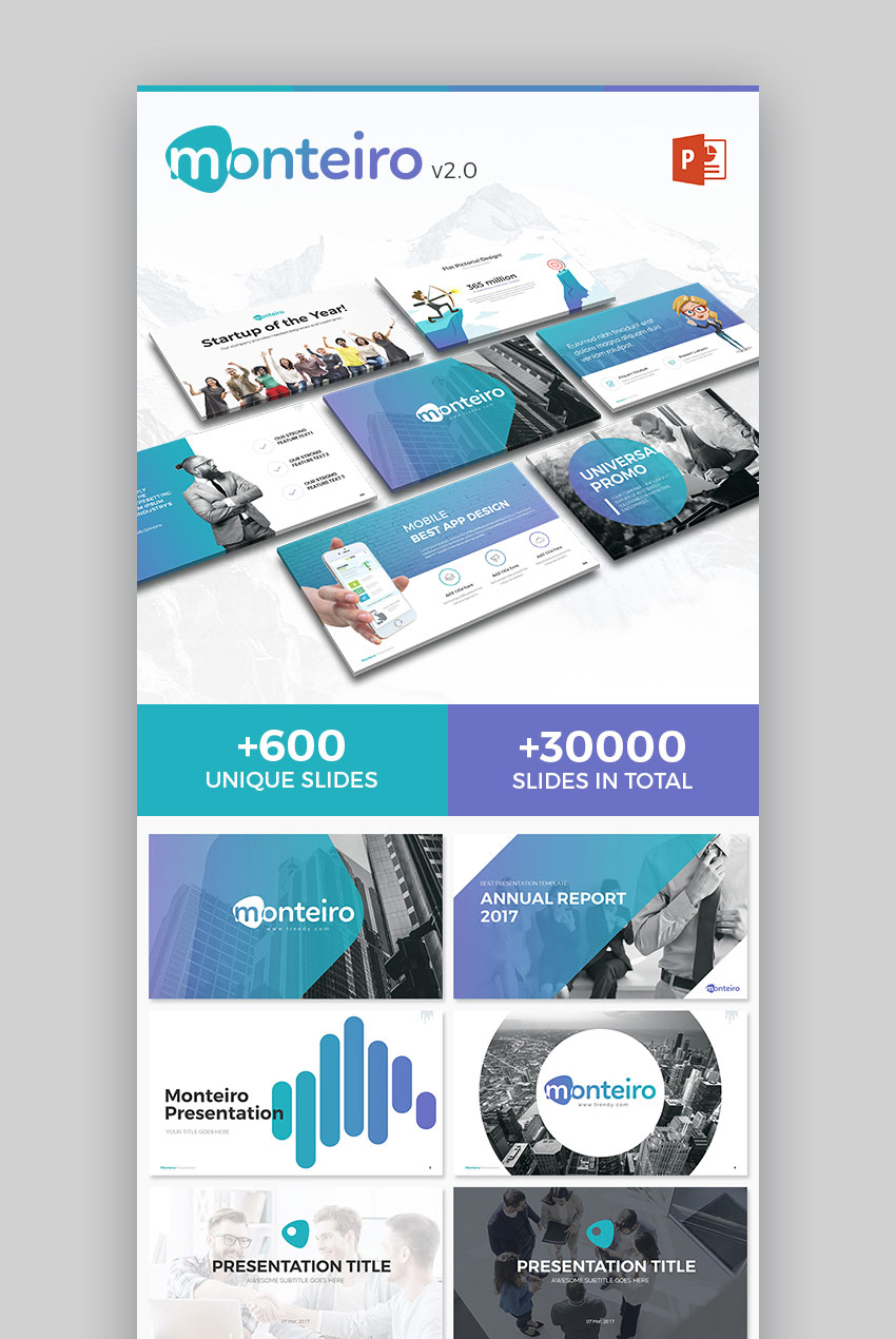 Monteiro New Modern PowerPoint Template Design Download