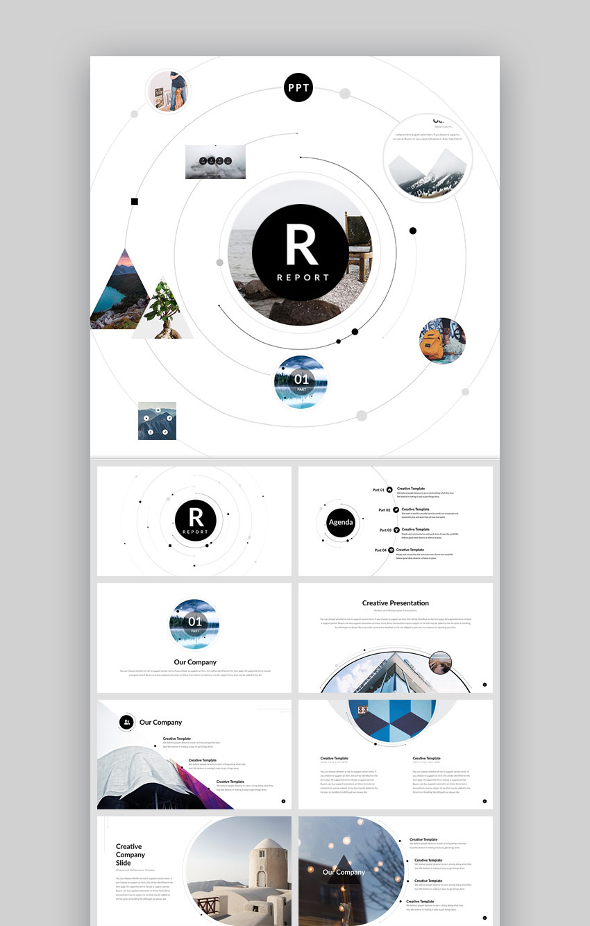 Report Trendy New Modern PPT Presentation Template