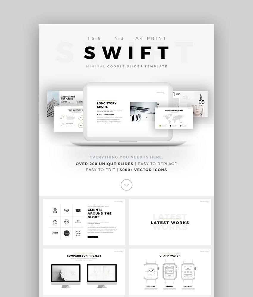 Swift Top Design Minimal Style Google Slides Template