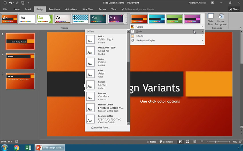 how to modify powerpoint templates with slide design