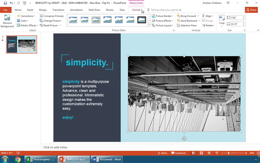 How to Flip a Picture in PowerPoint in 60 Seconds