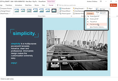 How to flip a picture in powerpoint