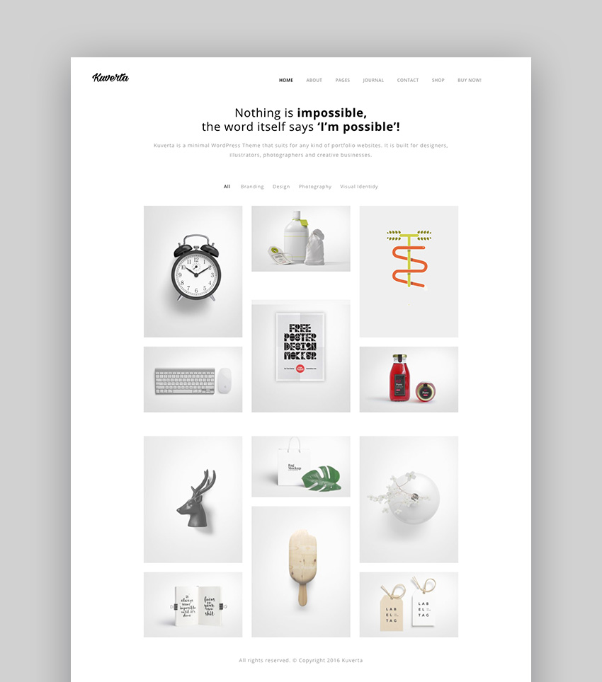 Kuverta Easy-to-Customize Quickly WordPress Theme