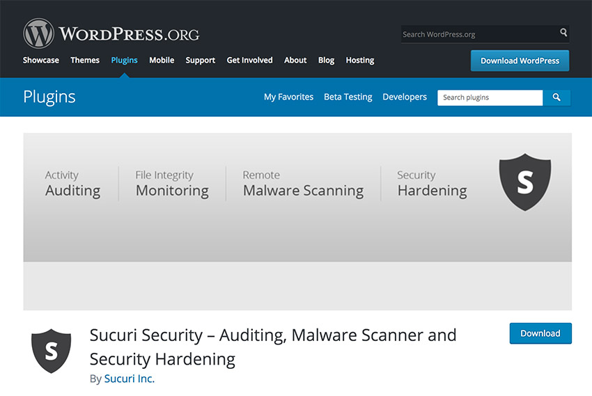 Securi WordPress security plugin