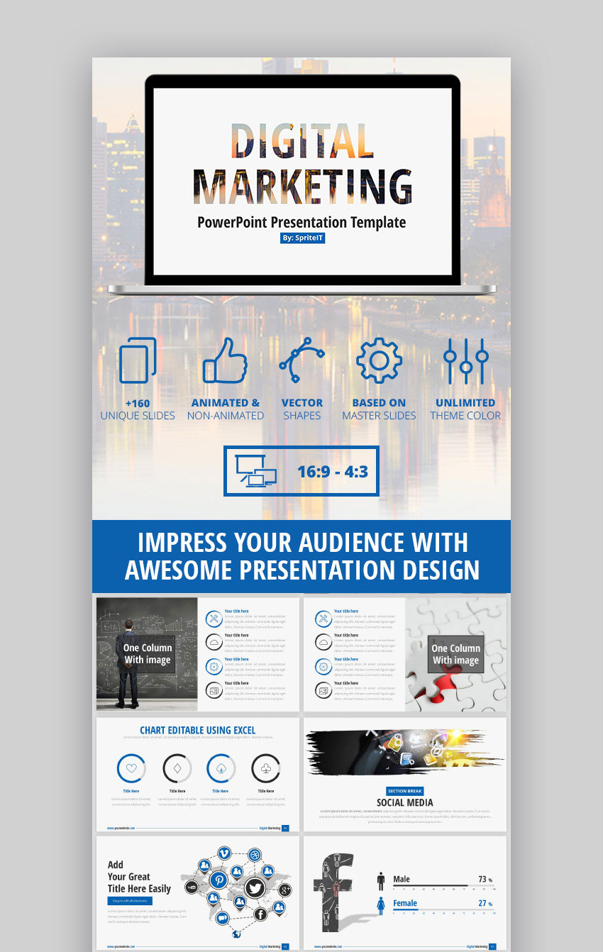 15 marketing powerpoint templates to present your plans digital marketing business strategy ppt presentation friedricerecipe Images