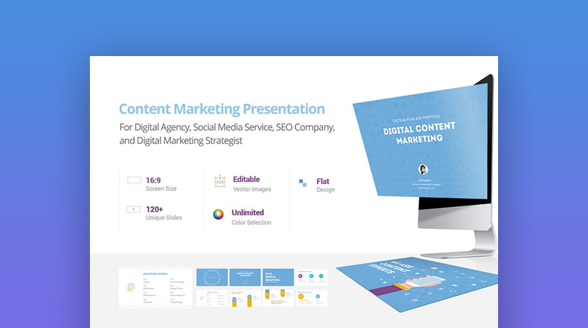 Content Marketing Presentation PPT PowerPoint Design