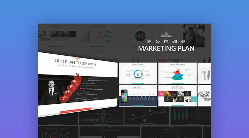 15+ marketing powerpoint templates to present your plans, Presentation templates