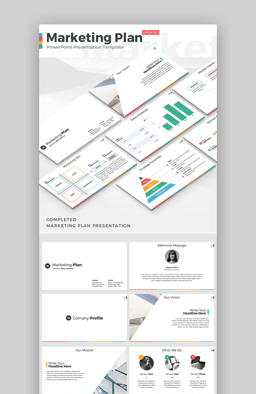 Marketing Plan PPT Theme for PowerPoint Presentations