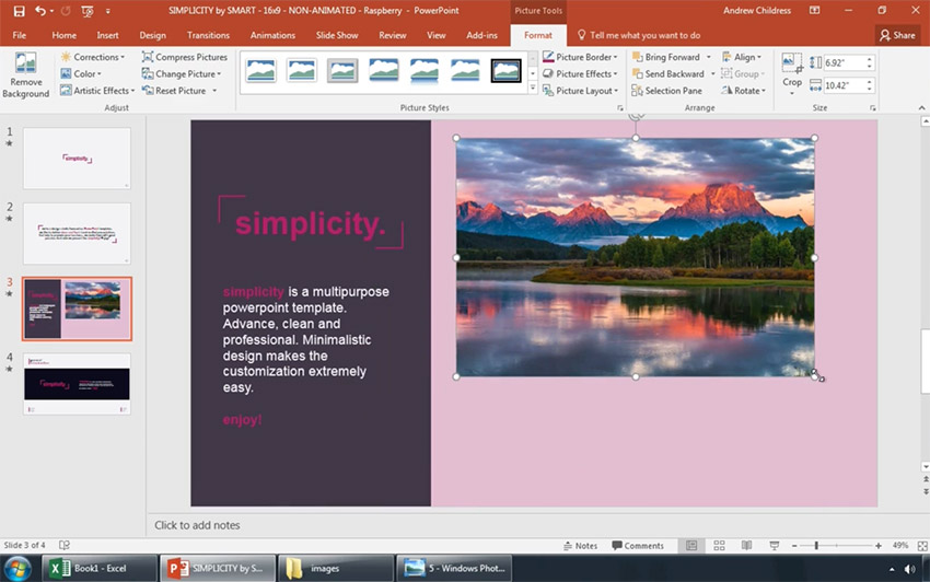 Image pasted onto PowerPoint slide