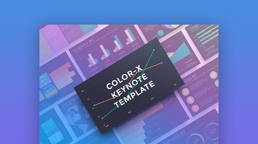 Color-X Mac Custom Keynote Presentation Template
