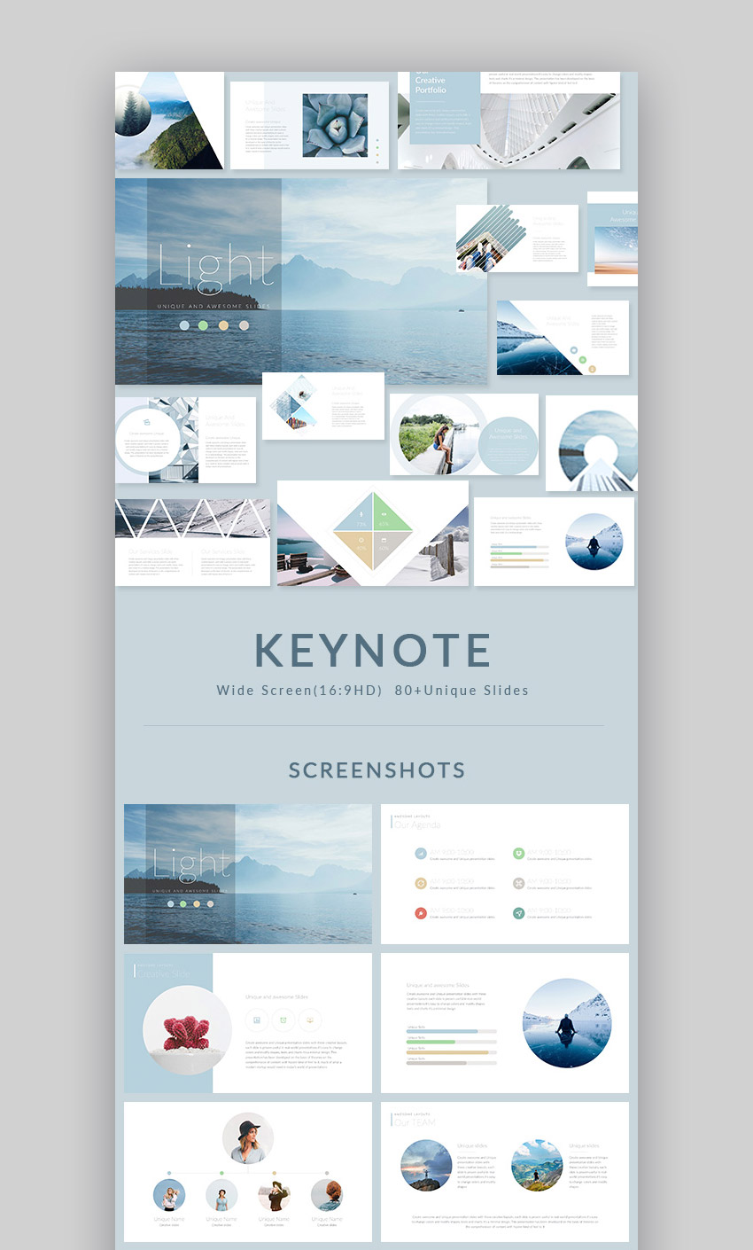 Light Modern Mac Keynote Presentation Template