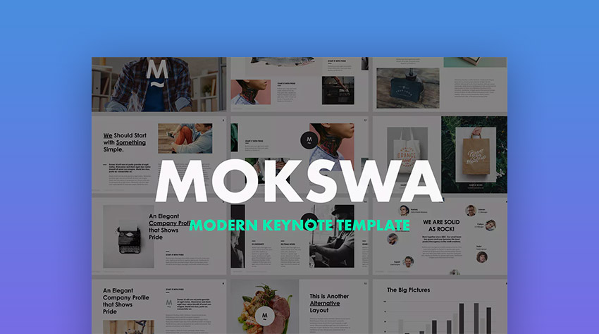 Mokswa Apple Modern Agency Mac Keynote Theme
