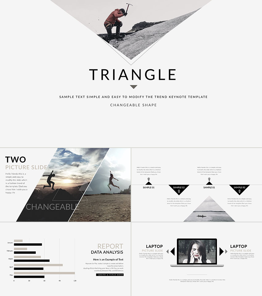 Triangle modern Keynote presentation template design