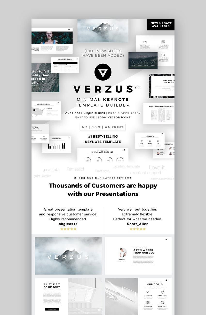 Verzus Minimal Apple Keynote Presentation Theme Download