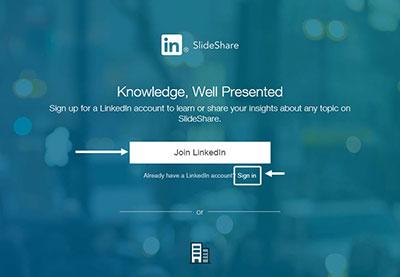 What is slideshare linkedin account
