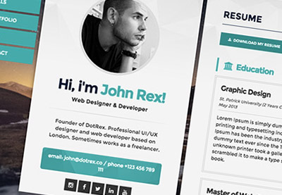5 examples of beautiful resumecv web templates