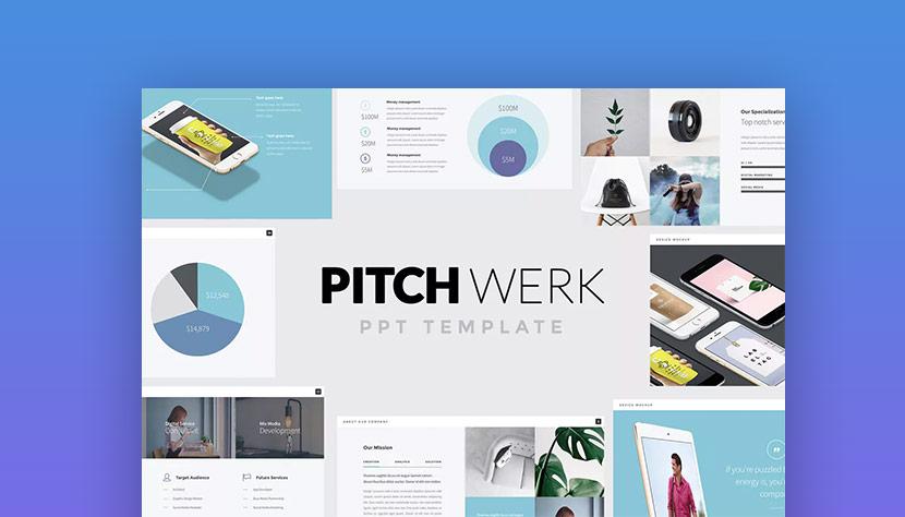 Pitch Werk Powerful PowerPoint Investor Pitch template