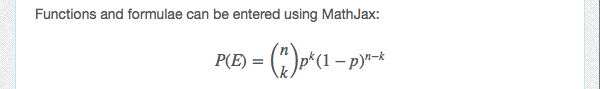 Rendered MathJax formula