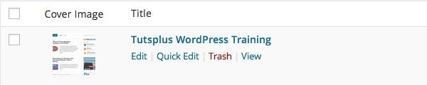 Edit or Trash links