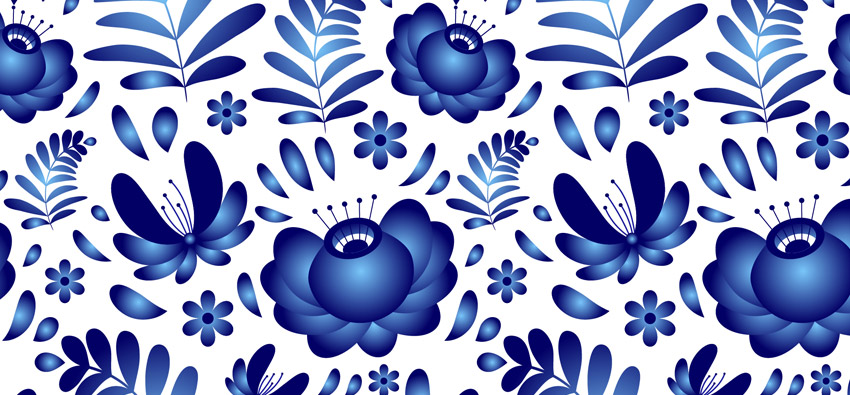 How to Create a Gzhel Pottery Russian Pattern in Adobe