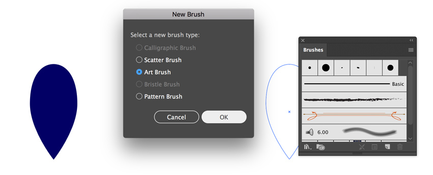Create art brush